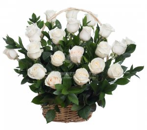 Basket of 21 roses